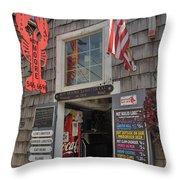 Roy Moore Lobster Company Throw Pillow by Joann Vitali