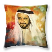 Royal Collage Throw Pillow by Corporate Art Task Force