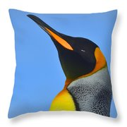 Royal Squinting Throw Pillow by Tony Beck