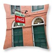 Royal St. Pharmacy Throw Pillow by Scott Pellegrin