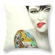 'Ruby II' Throw Pillow by Christian Chapman Art