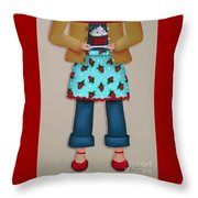 Ruby's Red Shoes Throw Pillow by Catherine Holman
