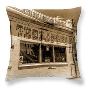 Rudy The Barber Throw Pillow by Joan Carroll