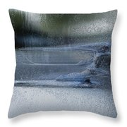 Running In The Rain Throw Pillow by Jack Zulli