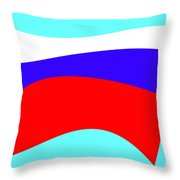 Russian Flag Throw Pillow by Lali Kacharava