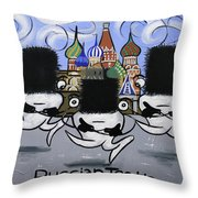 Russian Tooth Throw Pillow by Anthony Falbo
