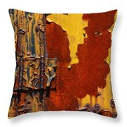 Rust Abstract Throw Pillow by Jack Zulli