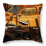 Rust Race Throw Pillow by Joe Jake Pratt