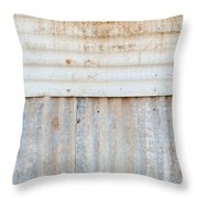 Rusted Metal Background Throw Pillow by Tim Hester