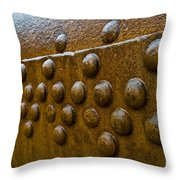 Rusted Whaling Machinery Throw Pillow by John Shaw