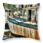 Rusted Wood Throw Pillow by Michael Thomas