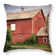 Rustic Barn Throw Pillow by Bill Wakeley