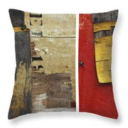 Rustic Industrial Print Times 3 Throw Pillow by Anahi DeCanio
