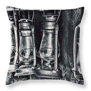 Rustic Lanterns Throw Pillow by Kelley King