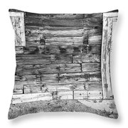 Rustic Old Colorado Barn Door And Window Bw Throw Pillow by James BO  Insogna