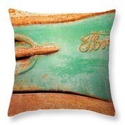 Rusting Ford Throw Pillow by James Brunker