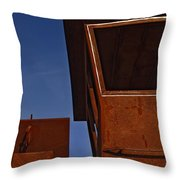 Rusty Boat Throw Pillow by Murray Bloom
