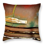 Rusty Gold Throw Pillow by Marty Koch