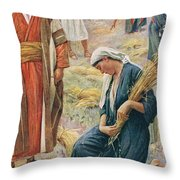 Ruth Throw Pillow by Harold Copping