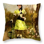 Sa Majeste La Parisienne Throw Pillow by Alfred Stevens