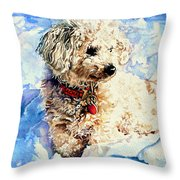 Sacha Throw Pillow by Hanne Lore Koehler