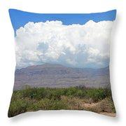 Sacramento Mountains Storm Clouds Throw Pillow by Jack Pumphrey