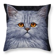 Sad Kitty Throw Pillow by Crista Forest