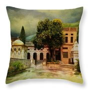 Saidpur Village Throw Pillow by Catf