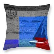 Sail Sail Sail Away - J179176137-01 Throw Pillow by Variance Collections