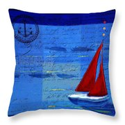 Sail Sail Sail Away - j173131140v5c2 Throw Pillow by Variance Collections