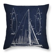 Sailboat Patent Drawing From 1927 Throw Pillow by Aged Pixel