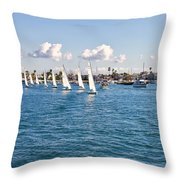Sailing Throw Pillow by Angela A Stanton