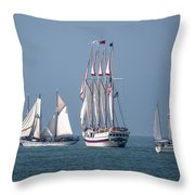 Sailing Lake Erie Throw Pillow by Dale Kincaid