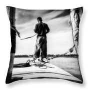 Sailing On The Nile Throw Pillow by Erik Brede