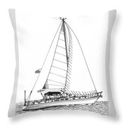 Sailing Sailing Sailing Throw Pillow by Jack Pumphrey