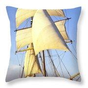 Sailing Ship Carribean Throw Pillow by Douglas Barnett