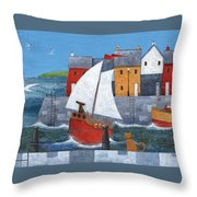 Sailor Dog Variant 1 Throw Pillow by Peter Adderley