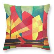 Sails And Ocean Skies Throw Pillow by Tracey Harrington-Simpson