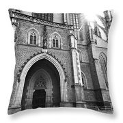 Saint Barbara's Church Throw Pillow by Michal Boubin