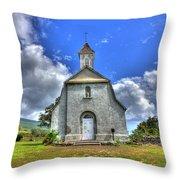 Saint Joeseph's Church Maui  Hawaii Throw Pillow by Puget  Exposure