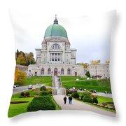 Saint Joseph du Mont Royal Throw Pillow by Valentino Visentini