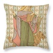 Saint Mark Throw Pillow by English School