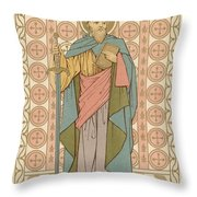 Saint Paul Throw Pillow by English School