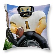 Saints New Orleans Throw Pillow by Christine Till