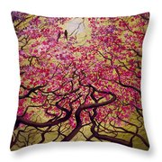 Sakura Throw Pillow by Vrindavan Das