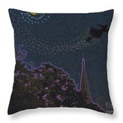 Salem Witch Moon 2 By Jrr Throw Pillow by First Star Art