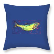 Salmon Of Knowledge Throw Pillow by Derrick Higgins