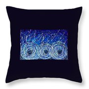 Salt Of The Soul - Drip Painting Art By Commission Throw Pillow by Sharon Cummings