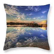 Salt Pans Of Ludo Throw Pillow by English Landscapes