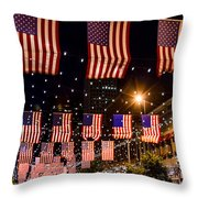 Salute To Old Glory Throw Pillow by Teri Virbickis